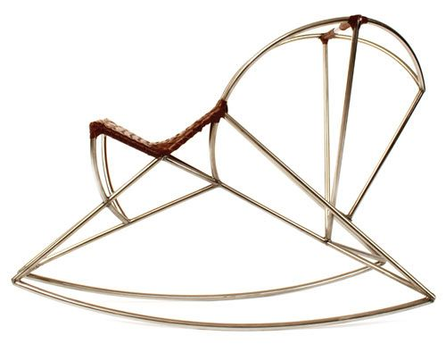 J. Key Schneyorson // rocking horse in steel and leather: