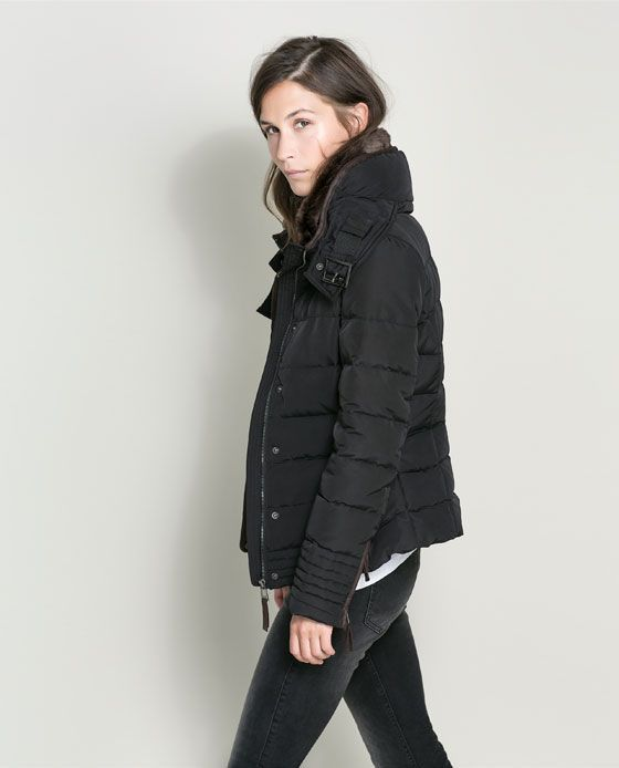 Image 3 of SHORT PUFFER JACKET from Zara | Buy Later | Pinterest