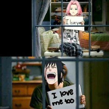 I Love You Sasuke I Love Me Too D By Lunadelilah Naruto Funny Funny Naruto Memes Anime Naruto