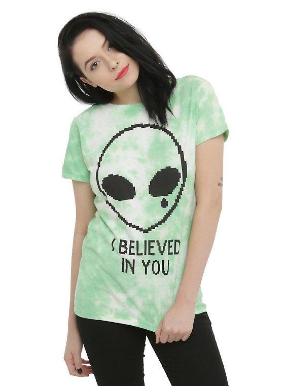 Believed In You Alien Girls T-Shirt, GREEN