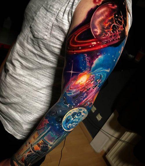 125 Best Sleeve Tattoos For Men Cool Ideas Designs 2020 Guide In 2020 Tattoo Sleeve Men Space Tattoo Sleeve Galaxy Tattoo Sleeve