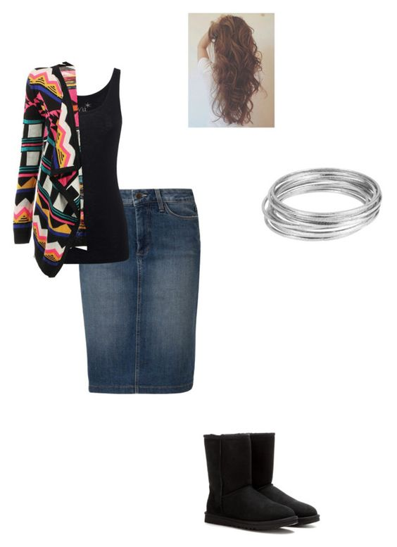 """Wednesday"" by modest-pearl ❤ liked on Polyvore featuring Worthington, NYDJ, Juvia and UGG Australia"