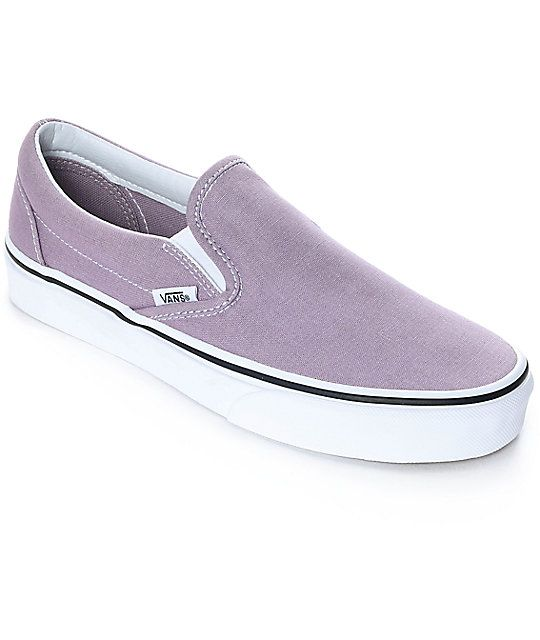 e5d44f8d353 Vans Slip-On Sea Fog   True White Skate Shoes