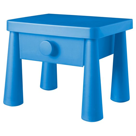 mammut nightstand in blue from ikea looks like the side table drawer from blue 39 s clues. Black Bedroom Furniture Sets. Home Design Ideas