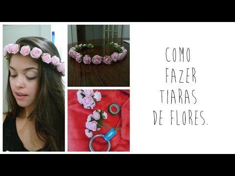 Como fazer tiara de flor - Jackeline Chagas