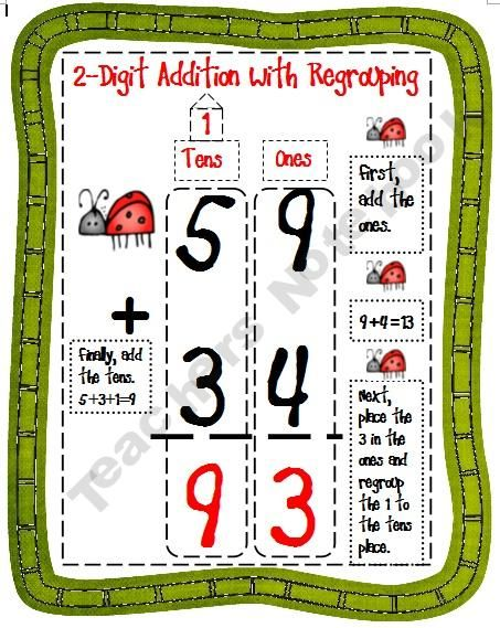 Resultado de imagen para addition with and without regrouping clipart