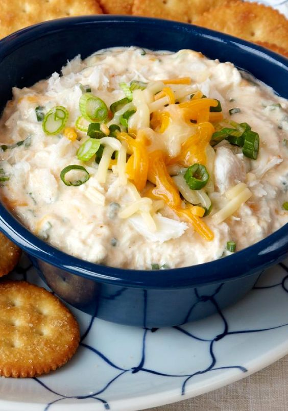 Maryland Crab Dip – This dip's smooth cream cheese base, flaky crabmeat and dashes of Worcestershire and hot pepper sauces will put you firmly on the shores of Chesapeake Bay.