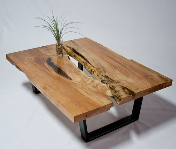 Hillside Coffee Table Trunk: SIDE Table - Live Edge - Natural