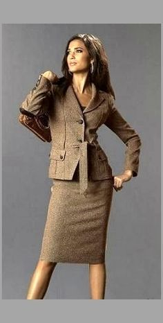 brown suits women - Google Search | Professional Style | Pinterest