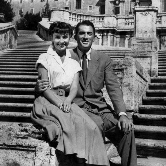 Audrey Hepburn y Gregory Peck |Foto: Pinterest.