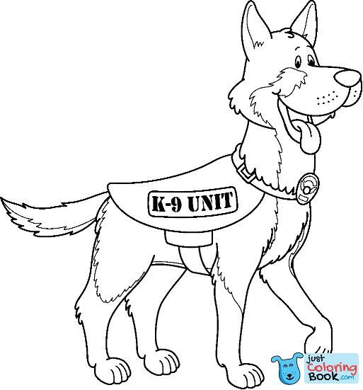 Police Dog Drawing At Paintingvalley Explore Collection Of Inside K 9 Police Dog Coloring Pages Dog Coloring Page Puppy Coloring Pages German Shepherd Colors