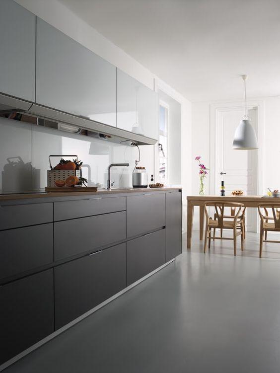 UMBRA GRIS ANTRACITA Los frentes con sistema GOLA crean una cocina - küchenzeile 160 cm
