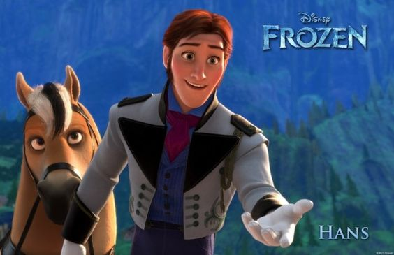 Hans (voice of Santino Fontana) - FROZEN ... Santino is just super awesome at being a prince. Prince Topher and now Prince Hans