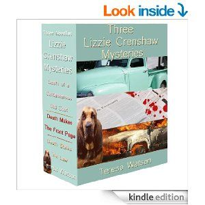 Lizzie Crenshaw Mysteries 3-book set to start: 99¢ ... You can't pick your relatives or the messes they leave behind when they meet a long awaited but suspicious death. Lizzie just wants to get on with her plans, but Amos was a horror of a man and grandfather. Lizzie must work with the new deputy she doesn't quite trust and she has to figure out what is going on before she is either thrown in jail...or becomes a victim herself. And she's reaching the end of her patience.  FUN COZY MYSTERIES!