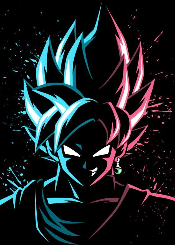 Face To Face Blue Vs Rose Metal Poster Alberto Perez Displate Anime Dragon Ball Anime Dragon Ball Super Dragon Ball Wallpapers