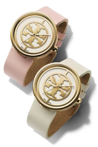 light pink and ivory leather strap watches