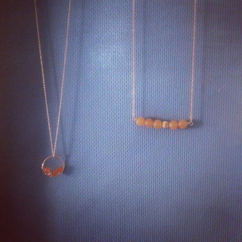 Lisa Dora Jewellery - Mango necklace and Initial E with fresh water pearl reserved for Liz