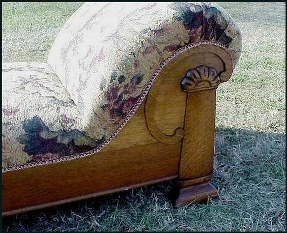 Victorian Oak Chaise Daybed Analyst Couch  by MillingtonMill, $795.00