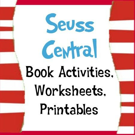 All things Suess.. Thank you thank you thank you... I can use some of these for Reading Centers and even when celebrate his birthday!!