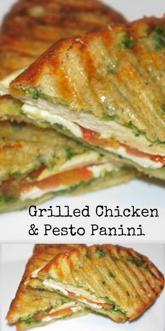 Grilled Chicken & Pesto Panini