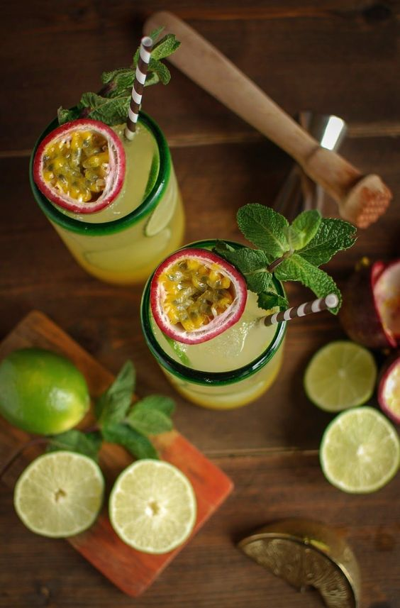 Bring in the sunshine with this mint and passion fruit rum punch.