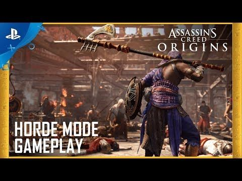 Assassin S Creed Origins Horde Mode Gameplay Ps4 Assassins