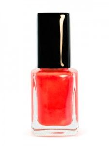 Red nail polish on white background  From Coupon Clipinista!