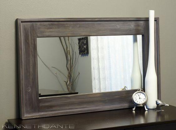Wood Framed Bath Mirrors Oak Bathroom Mirror Oak Framed Bathroom Mirror Unusual Wood Framed: Pinterest €� The World's Catalog Of Ideas