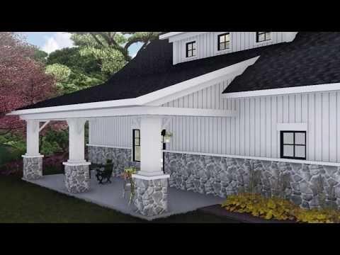 House Plan 1020 00330 Barn Plan 1 871 Square Feet 2 Bedrooms 2 Bathrooms In 2020 Farmhouse Style House Plans Barn House Plans Barn House
