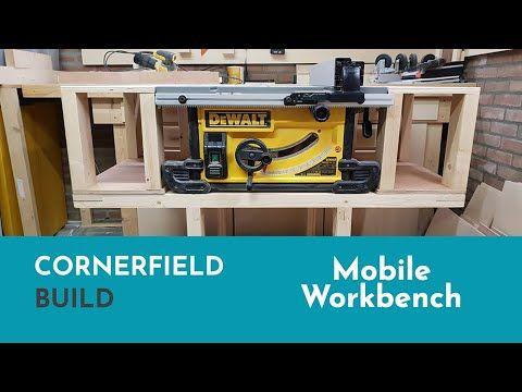 Mobile Workbench Dewalt 7491 Table Saw Youtube Mobile Workbench Table Saw Workbench Table Saw
