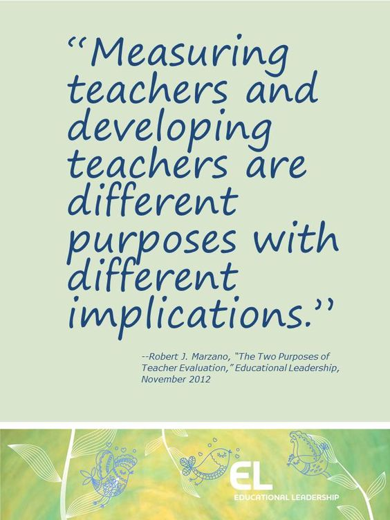 The Two Purposes of Teacher Evaluation by Robert J Marzano - teacher evaluation