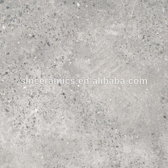 Light Grey Color Terrazzo Design Polished Glazed Porcelain
