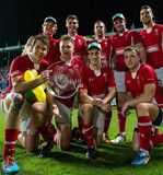 The Wales 7 Team wearing SPORTTAPE!