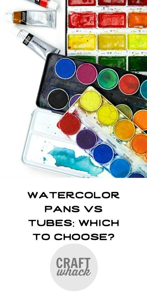 Watercolor Pans Vs Tubes Which Is Better Watercolor Pans