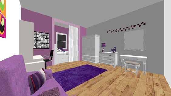 Teen Bedroom Idea by LaurenTheOwl95. A design bedroom with products like the Fresno Desk with Hutch: