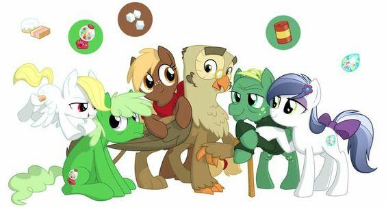 Main 6's pets as ponies