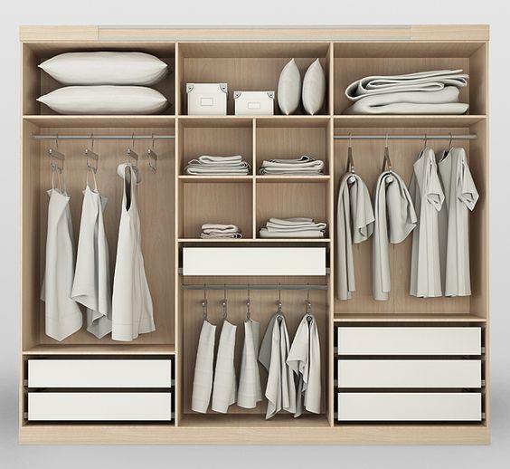 Come organizzare la cabina armadio. - Questioni di Arredamento