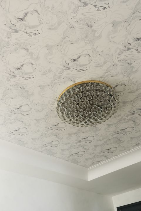 You Won T Believe How Chic Wallpapered Ceilings Can Look