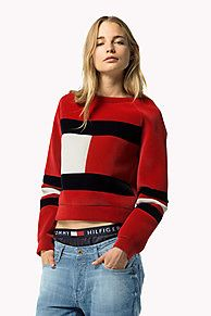 Shop the red flag sweater from the latest Tommy Hilfiger sweatshirts collection for women. Free returns & delivery over 50£. 8719109849015