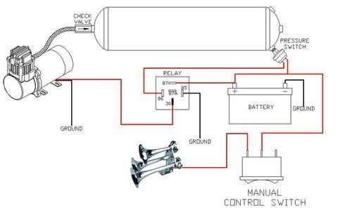 Omega Train Horn Wiring DiagramPinterest