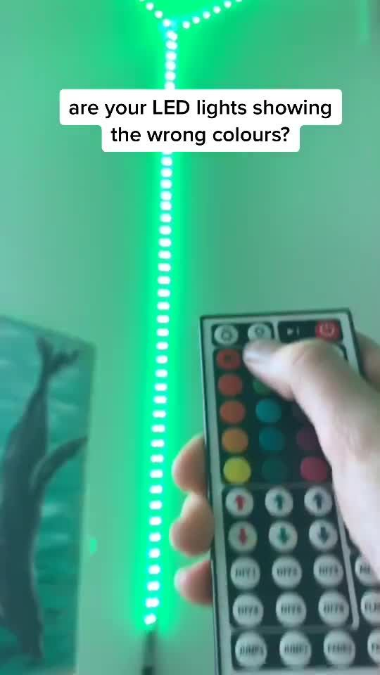 How To Fix Led Lights Showing Wrong Colours Foryou Ledlights Fyp Foryoupage Xyzbca Tutorial H In 2021 Led Lighting Bedroom Led Lighting Diy Led Room Lighting