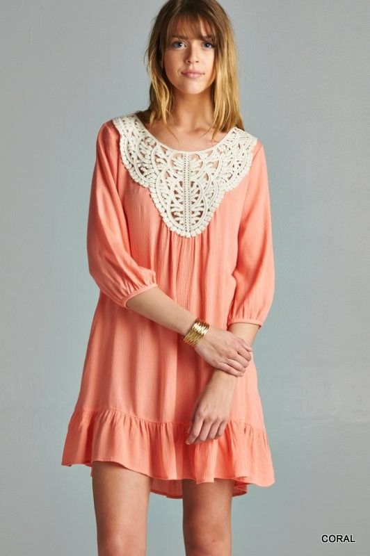 Close to My Heart Dress - Coral