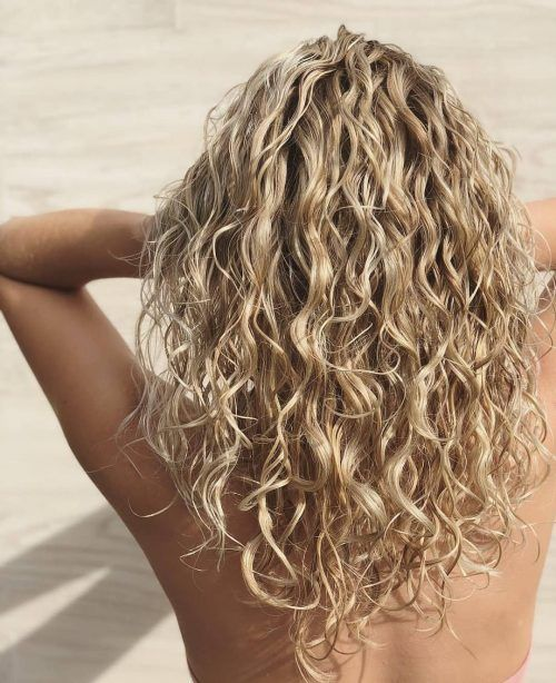 15 Gorgeous Examples Of Blonde Curly Hair Medium Length Curly Hair Curly Hair Styles Blonde Curly Hair
