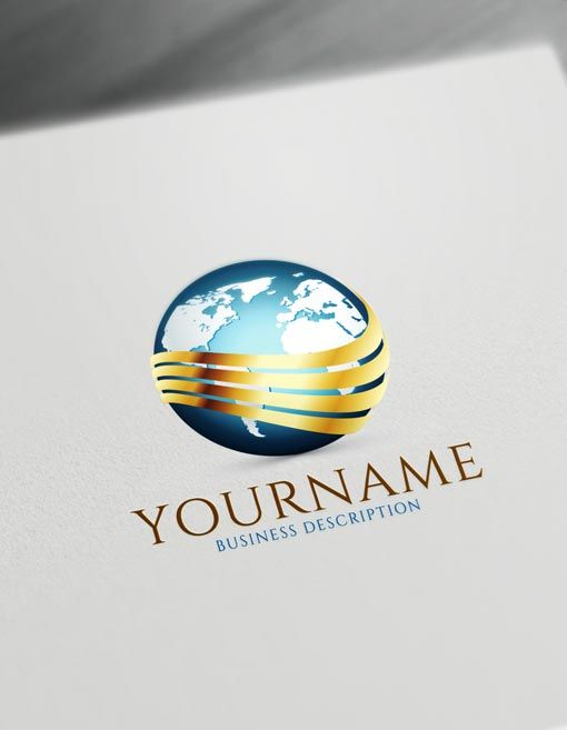 Globe Logo Template Free Online Logo Maker And Download Globe Logo Free Logo Templates Logo Design Free