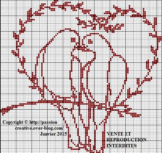 Le blog de isabelle venez d couvrir mon univers point de croix peinture serviette perle - Point de croix grilles gratuites ...