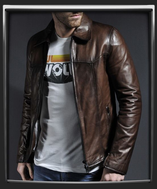 Mens vintage leather jacket with classic style | Fashion: Leather ...