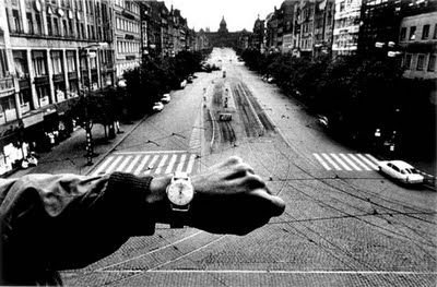 JOSEF KOUDELKA, view to Wenceslas Square, Prague