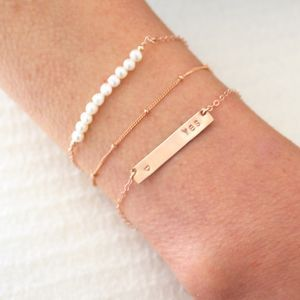 Personalised Rose Gold Bracelet Set - what's new