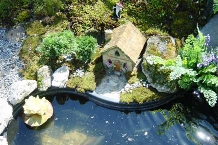 Fairy garden with pond