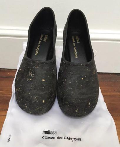 e3f00ea00fb6fb Comme-des-Garcons-X-Melissa-Mid-Heel-Shoes -Black-Size-6-39-BNWT-Collector-s-Item
